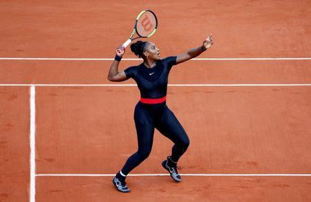 FILE PHOTO: Tennis - French Open - Roland Garros, Paris, France - May 31, 2018 Serena Williams of the U.S. in action during her second round match against Australia's Ashleigh Barty REUTERS/Charles Platiau/File Photo
