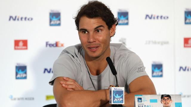 A knee issue forced Rafael Nadal to withdraw from the Paris Masters last week, but the Spaniard feels ready to go in London.
