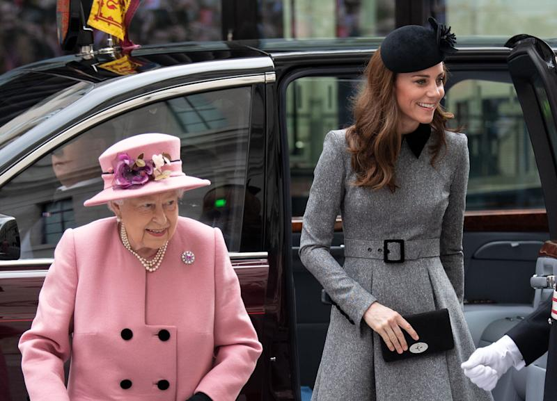 The Queen and the Duchess of Cambridge at King's College on March 19, 2019 [Photo: PA]