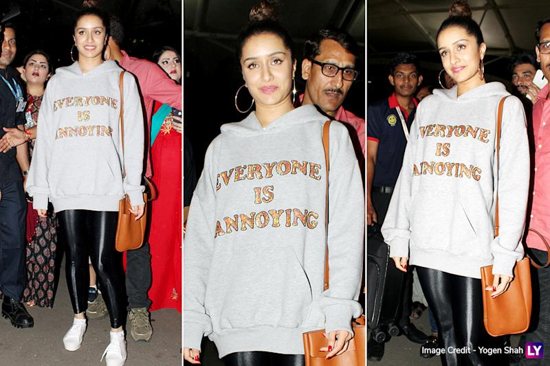 Airport Style - Shraddha Kapoor
