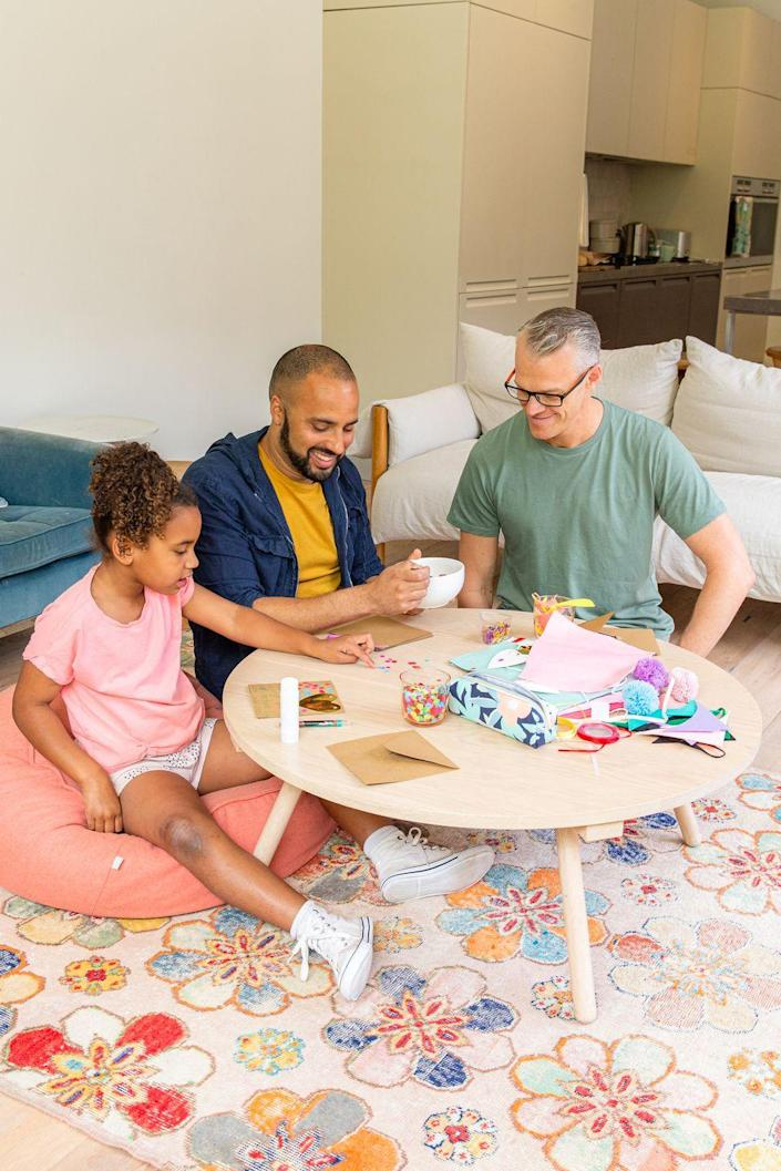 """<p>Spend some time learning from one another this Father's Day. For example, your child can teach Dad how to make handmade cards and Dad can teach your kiddo how to make his famous homemade granola. </p><p><a class=""""link rapid-noclick-resp"""" href=""""https://go.redirectingat.com?id=74968X1596630&url=https%3A%2F%2Fwww.walmart.com%2Fip%2FCrayola-Colossal-Creativity-Tub-Art-and-Craft-Supplies-Art-Set-Gift-90-Pieces%2F45825256&sref=https%3A%2F%2Fwww.thepioneerwoman.com%2Fholidays-celebrations%2Fg36333267%2Ffathers-day-activities%2F"""" rel=""""nofollow noopener"""" target=""""_blank"""" data-ylk=""""slk:SHOP CRAFT SUPPLIES"""">SHOP CRAFT SUPPLIES</a></p>"""