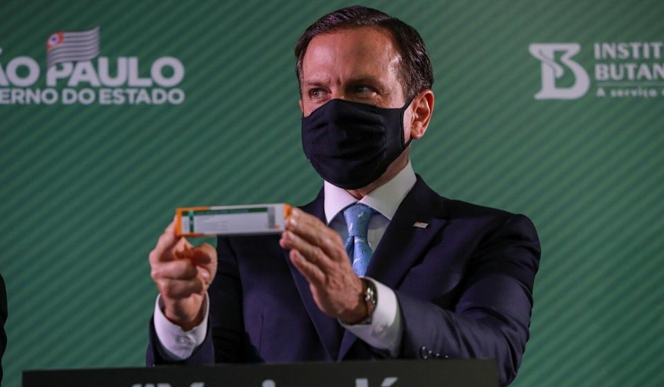 São Paulo governor João Doria is one of the main challengers to Jair Bolsonaro in next year's presidential election. Photo: Reuters
