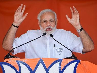 Prime Minister Narendra Modi speaks during an election campaign rally ahead of Karnataka Assembly Elections, at Chikmagalur. PTI