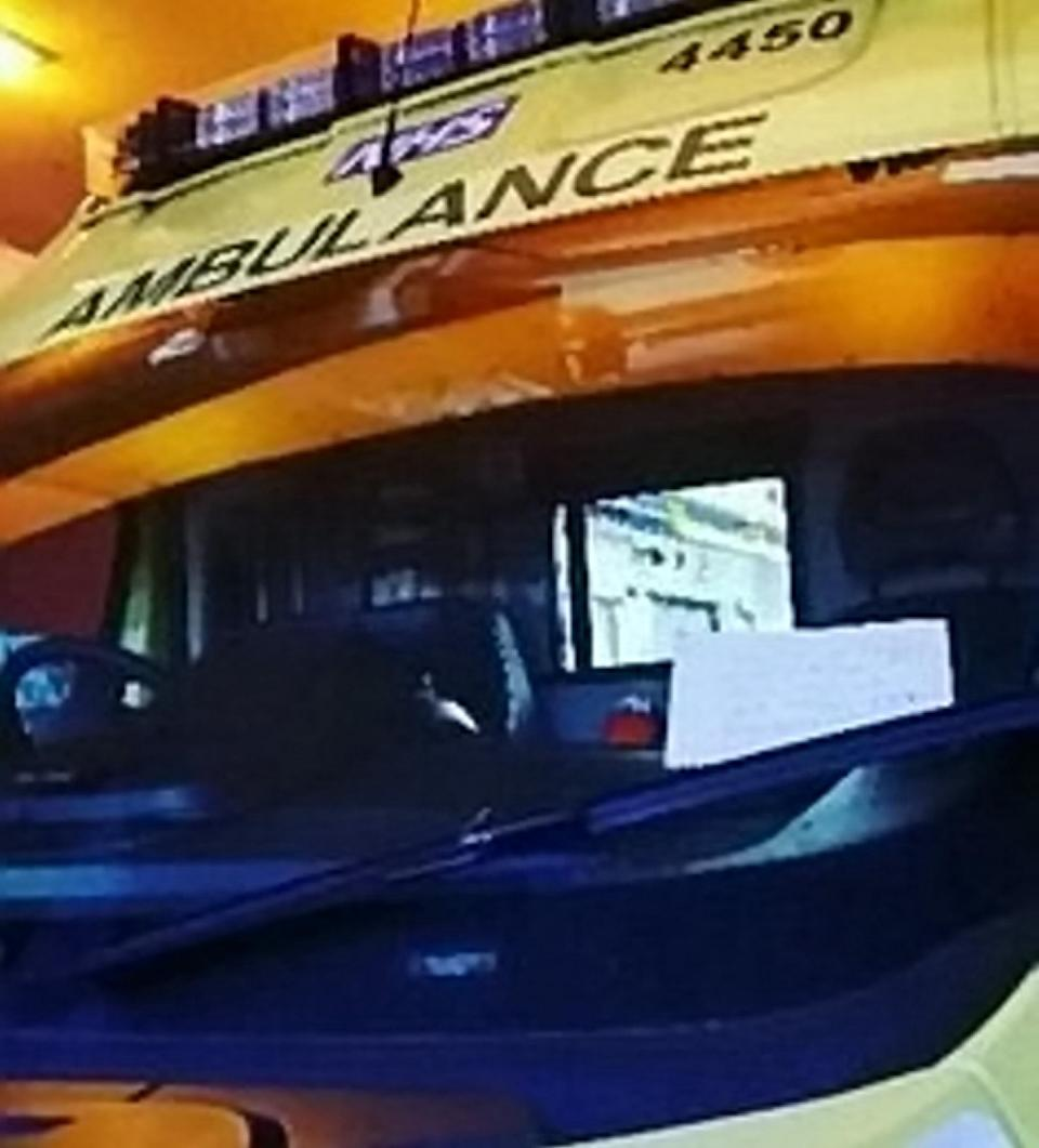 <em>Note: Crews found the furious note, left while they were treated the patient, on their ambulance (Pictures: SWNS/West Midlands Ambulance Service)</em>