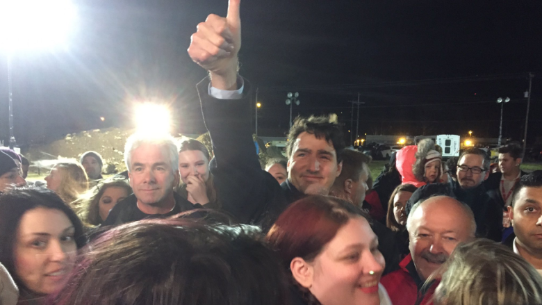 Trudeau greeted by crowds at Clarenville event for upcoming byelection