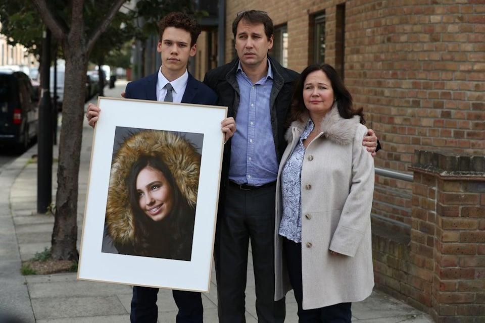 Nadim and Tanya Ednan-Laperouse with their son Alex (PA)