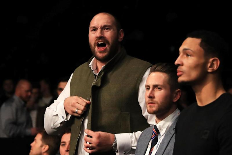 Challenge accepted: Tyson Fury has not fought since beating Wladimir Klitschko in 2015 (Getty Images)