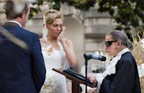 "<p>Ginsburg <a href=""https://www.washingtonpost.com/lifestyle/style/alyson-cambridge-and-tim-eloe-tie-the-knot--with-an-assist-from-ginsburg/2015/05/31/b8b93776-07c9-11e5-95fd-d580f1c5d44e_story.html?utm_term=.f488873795e7"" rel=""nofollow noopener"" target=""_blank"" data-ylk=""slk:officiated the wedding"" class=""link rapid-noclick-resp"">officiated the wedding</a> of opera singer Alyson Cambridge and her husband, Timothy Eloe, in Washington D.C. Alyson asked Ginsburg to officiate her wedding during a party for the Washington National Opera, and Ginsburg instantly agreed.</p>"
