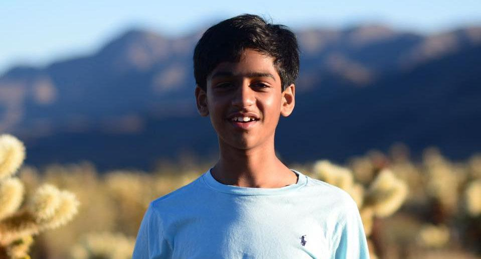 Arunay Prithi, 12, is pictured.