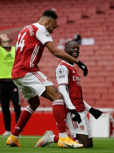 Arsenal wins 2-1 to leave Sheffield United without a point