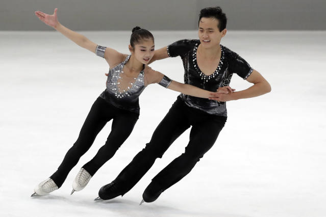 Ryom Tae-Ok and Kim Ju-Sik of North Korea will compete at the 2018 Winter Olympics in Pyeongchang. (AP Photo)