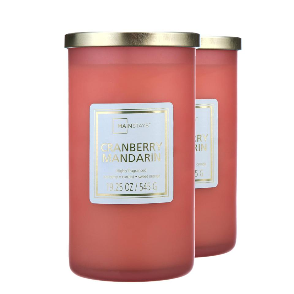 <p>Fact: you can never go wrong with gifting a candle around the holidays. The <span>Mainstays Cranberry Mandarin Scented Single-Wick Frosted Jar Candle, 19.25 oz., 2-Pack</span> ($16) is a solid choice that's both aesthetically pleasing and delicious-smelling.</p>