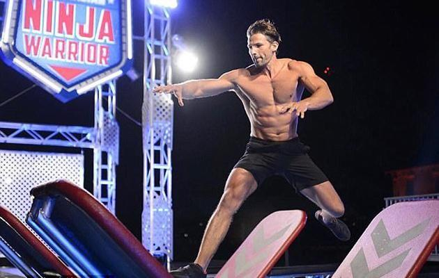The fitness guru shows off his muscular body in the new promo of Ninja Warrior Australia. Source: Instagram