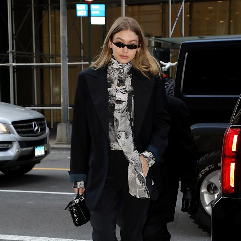 Gigi Hadid Trades Her Sweats for the Power Suit at New York Fashion Week
