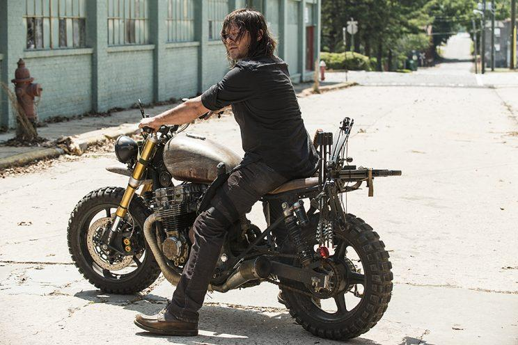 Norman Reedus as Daryl Dixon in AMC's The Walking Dead . (Photo Credit: Jackson Lee Davis/AMC)