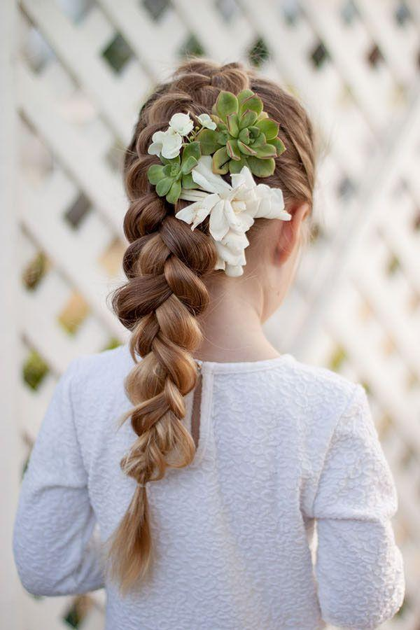 "<p>A simple braid will look even more sweet with the addition of some fragrant spring blooms and succulents.</p><p><strong>Get the tutorial at <a rel=""nofollow"" href=""http://www.cutegirlshairstyles.com/hairstyles/braids/braids-with-flowers/"">Cute Girls' Hairstyles</a>.</strong></p>"