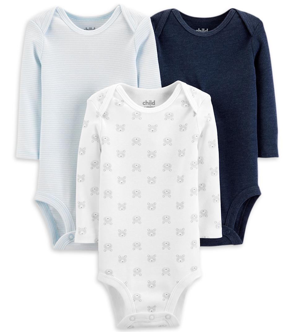 Child of Mine by Carter's Long Sleeve Bodysuits
