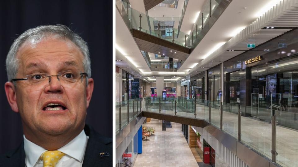 Prime Minister Scott Morrison flags rent relief for business. Source: Getty