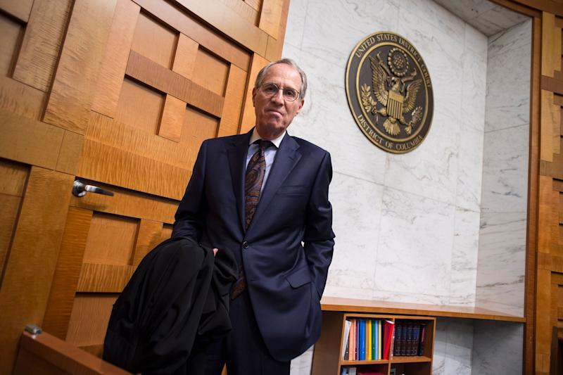 U.S. District Judge Paul L. Friedman in his courtroom on July 28, 2014, in Washington, denounced President Donald Trump's disrespect of the judiciary. (Photo: The Washington Post via Getty Images)