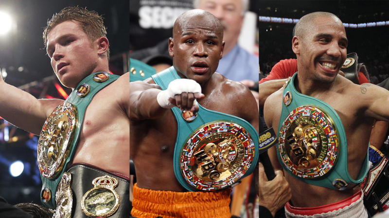 Canelo Alvarez, Floyd Mayweather and Andre Ward are the candidates for Yahoo Sports Boxer of the Decade.