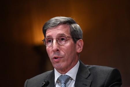 U.S. Federal Trade Commission (FTC) Chairman Joseph Simons testifies at Senate Appropriations Subcommittee hearing on the proposed budgets for the FCC and the FTC on Capitol Hill in Washington
