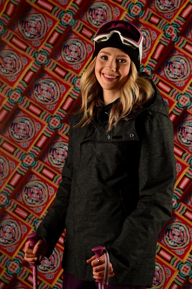 <p>Freeskier Maggie Voisin poses for a portrait during the Team USA PyeongChang 2018 Winter Olympics portraits on April 26, 2017 in West Hollywood, California. (Photo by Harry How/Getty Images) </p>