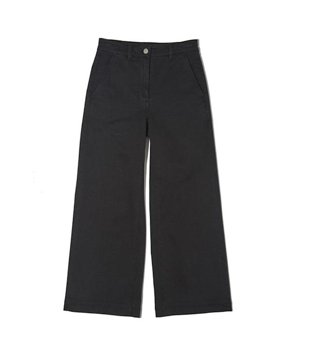 "<p>The Wide Leg Crop Pant, $68,<a href=""https://www.everlane.com/products/womens-hirise-wide-crop-pant-trueblack?utm_source=polyvore&utm_medium=cpc&utm_campaign=capri%20%26%20cropped%20pants"" rel=""nofollow noopener"" target=""_blank"" data-ylk=""slk:everlane.com"" class=""link rapid-noclick-resp""> everlane.com</a> </p>"