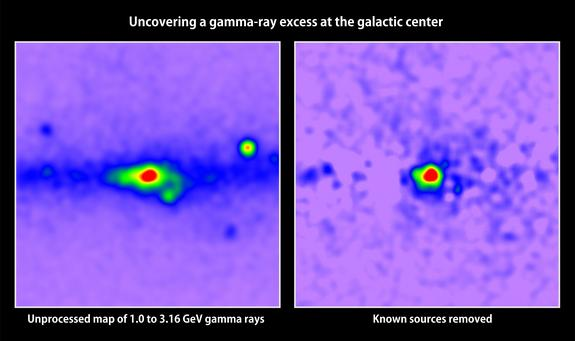 Hints of Mysterious Dark Matter Spotted at Milky Way's Center (Video)