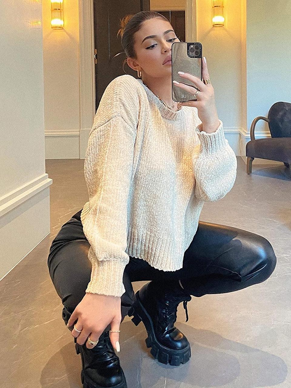 <p>This <span>KENDALL + KYLIE Balloon-Sleeve Crew-Neck Sweater</span> ($59) is so soft.</p>