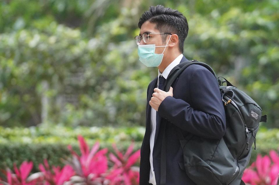 Defendant Chan Hey-hang at District Court on Tuesday. Photo: Winson Wong