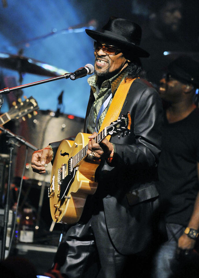 "Dubbed the Godfather of go-go (a type of funk music), legendary musician Chuck Brown passed away on May 16 at age 75. The Washington, D.C. native had a charismatic stage presence and performed up until his final years, finally receiving his first Grammy nomination in 2010. ""As long as I can walk up on that stage, I want to make people happy,"" he said in 2006. ""I want to make people dance."""