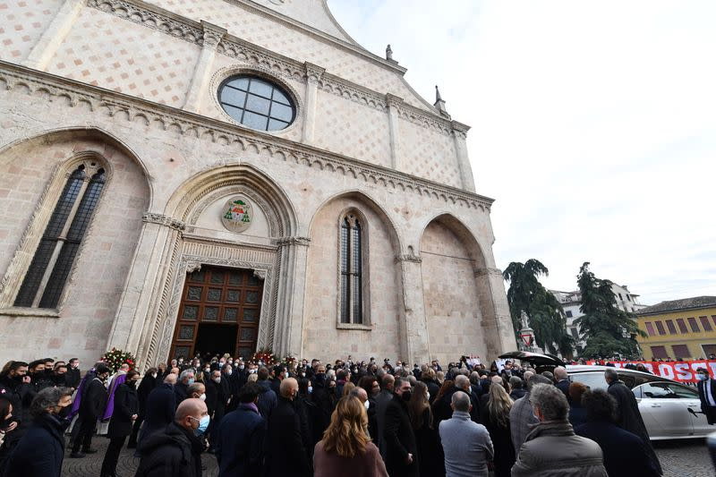 Funeral for former Italy player Paolo Rossi