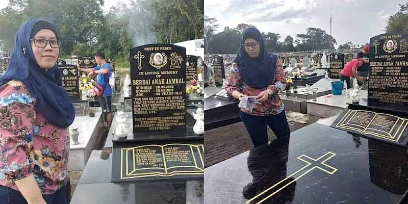 Dayang Rafidah says believing in different religions has never dampened the love and affection she has for her grandmother. — Pictures from Facebook/cikguemmetmenulis