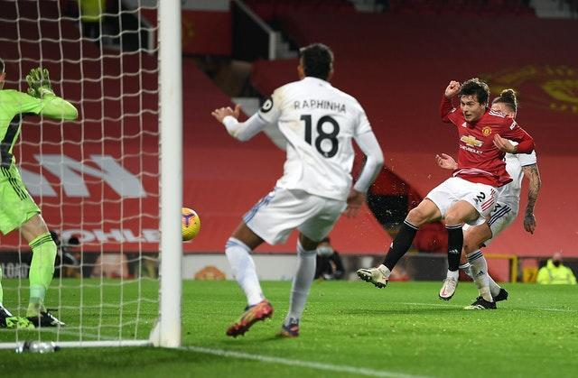 Victor Lindelof scored Manchester United's fourth against Leeds