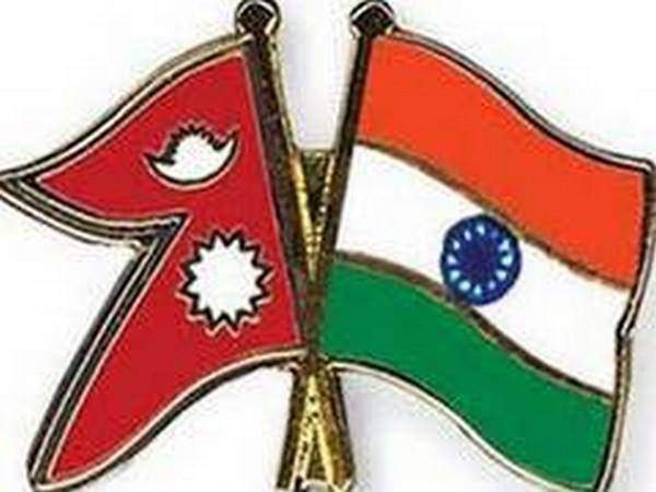 Nepali and Indian flags