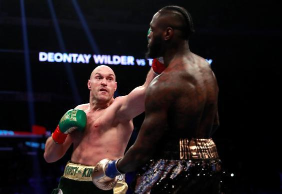 Fury lands on Wilder (Action Images via Reuters)