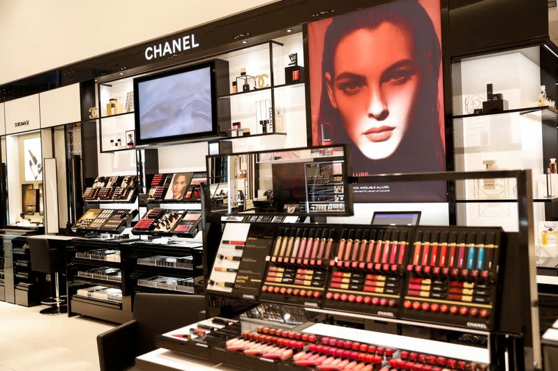 FILE PHOTO: The Chanel makeup section of the Nordstrom flagship store is seen during a media preview in New York