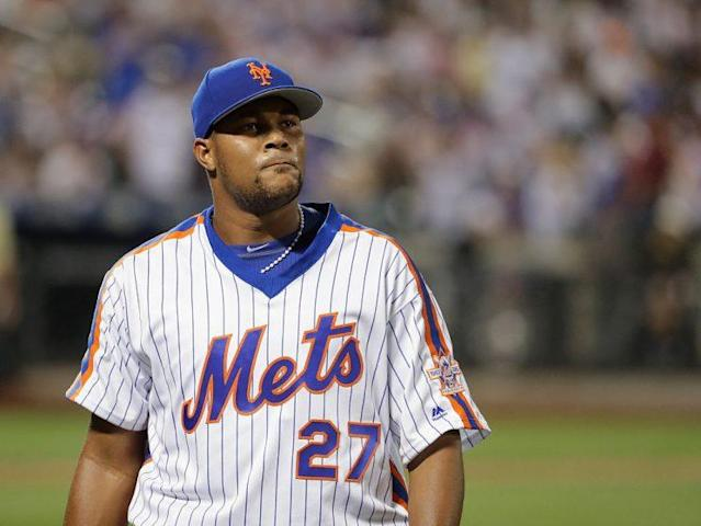 """<a class=""""link rapid-noclick-resp"""" href=""""/mlb/players/9299/"""" data-ylk=""""slk:Jeurys Familia"""">Jeurys Familia</a> in May 2016. (Getty Images)"""