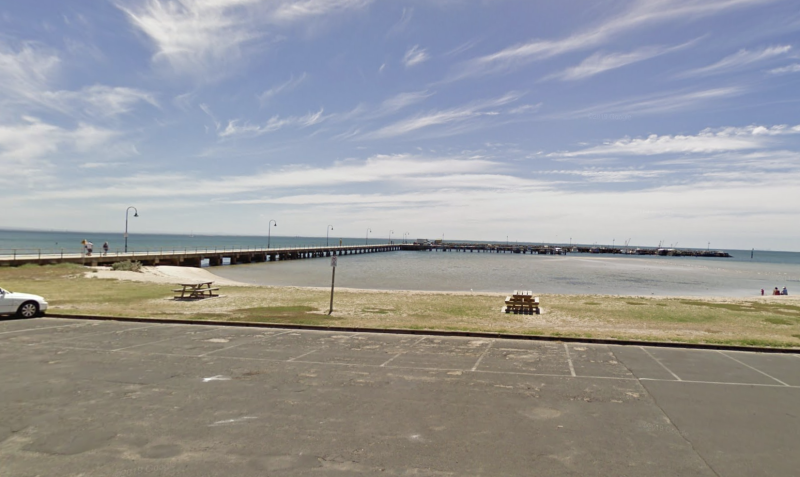 Near where the toddler went missing on The Esplanade on Thursday. Source: Google Maps
