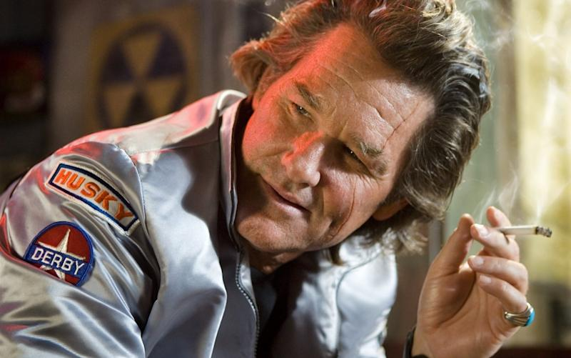 Future 'Hateful Eight' star Kurt Russell worked with Tarantino for the first time on 'Death Proof' (credit: Dimension Films/TWC)