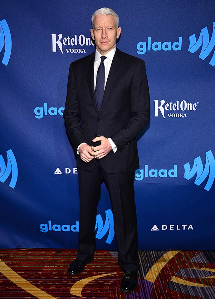 NEW YORK, NY - MARCH 16:  Anderson Cooper attends the 24th Annual GLAAD Media Awards on March 16, 2013 in New York City.  (Photo by Larry Busacca/Getty Images for GLAAD)
