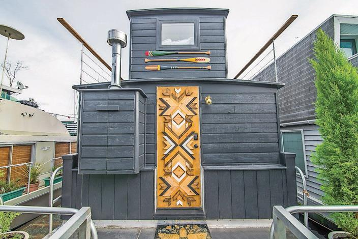 Gorder elevated the design of this houseboat in Seattle.