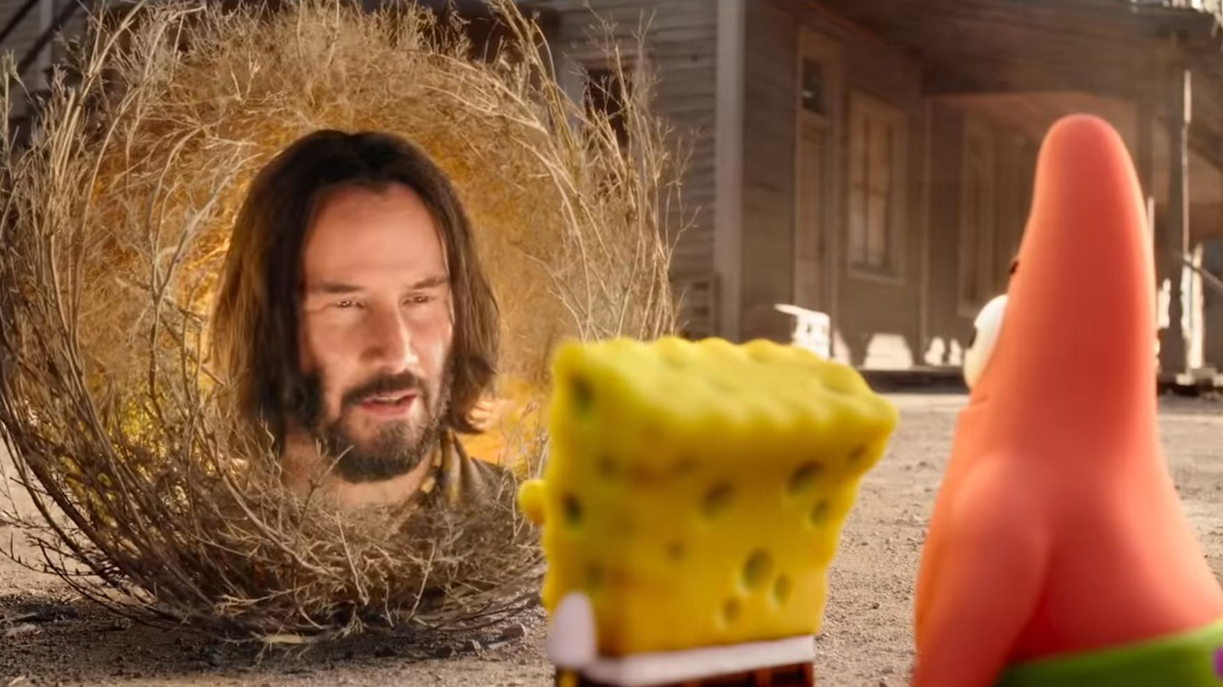 Keanu Reeves plays a ball of sage in the new trailer for 'The SpongeBob Movie: Sponge on the Run'. (Credit: Paramount)