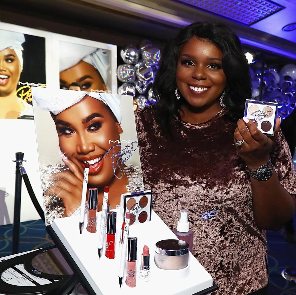 Patrick Starrr fan shops his new MAC makeup collection at The Damn Show in New York City. (Photo by Astrid Stawiarz/Getty Images for MAC Cosmetics)