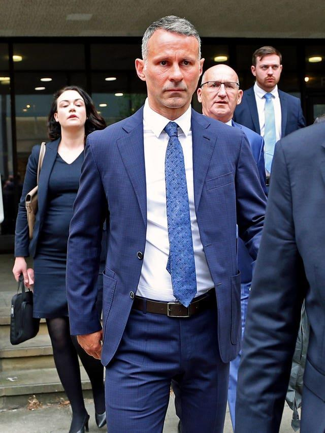 Ryan Giggs leaves Manchester Crown Court