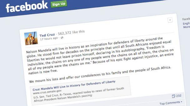 HT ted cruz mandela status nt 131206 16x9 608 Ted Cruz Criticized for Praising Nelson Mandela
