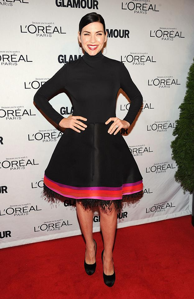 "<p class=""MsoNormal"">As always, Julianna Margulies aced the red carpet fashion test in her chic Chado Ralph Rucci ensemble. (11/12/12)</p>"