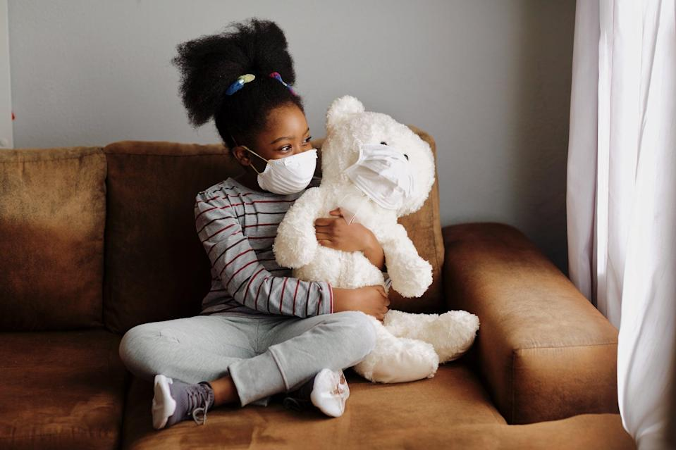 """<p>Even with a mask that fits properly, some kids may refuse to wear it – they are still anxious or comfortable at the prospect. </p> <p>At this point, Solomon advises parents normalize masks by wearing them themselves and by <a href=""""https://www.popsugar.com/family/face-mask-guidelines-for-kids-47377987"""" class=""""link rapid-noclick-resp"""" rel=""""nofollow noopener"""" target=""""_blank"""" data-ylk=""""slk:having a bigger conversation about &quot;the why of it all.&quot;"""">having a bigger conversation about """"the why of it all.""""</a></p> <p>Solomon said: """"Children love to be heroes and helpers, and children love the idea of fairness. This is a good place to start – we wear our masks to keep ourselves and other people safe. You can talk about how little people can do <em>big</em> things to help. 'Wearing a mask is a <em>big</em> way to help. It doesn't help if we don't do it the right way though.' If you explain that masks need to stay clean, that is a simple and effective umbrella explanation encompassing all the reasons children can't leave their masks on the floor, get them wet at the sink, chew on them, or wipe their nose with them.""""</p> <p>Related: <a href=""""https://www.popsugar.com/family/washable-cloth-face-masks-for-kids-47408949?utm_medium=partner_feed&utm_source=smartnews&utm_campaign=related%20link"""" rel=""""nofollow noopener"""" target=""""_blank"""" data-ylk=""""slk:You Can Buy Washable Face Masks in Different Patterns and Colors For Kids on Etsy"""" class=""""link rapid-noclick-resp"""">You Can Buy Washable Face Masks in Different Patterns and Colors For Kids on Etsy</a></p> <p>She also said parents should let kids pick out their own properly-fitted masks that cater to their personalities or interests – """"they can have multiple masks to go with their outfits or with their favorite characters or colors or matching masks with their friends or family"""" – and to appeal to their child's sense of fun.</p> <p>""""Find a way to tie wearing a mask into their favorite game,"""" she said. """"They can pretend that their"""