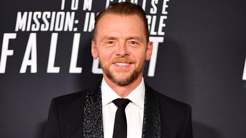 Simon pegg undergoes shocking body transformation for inheritance
