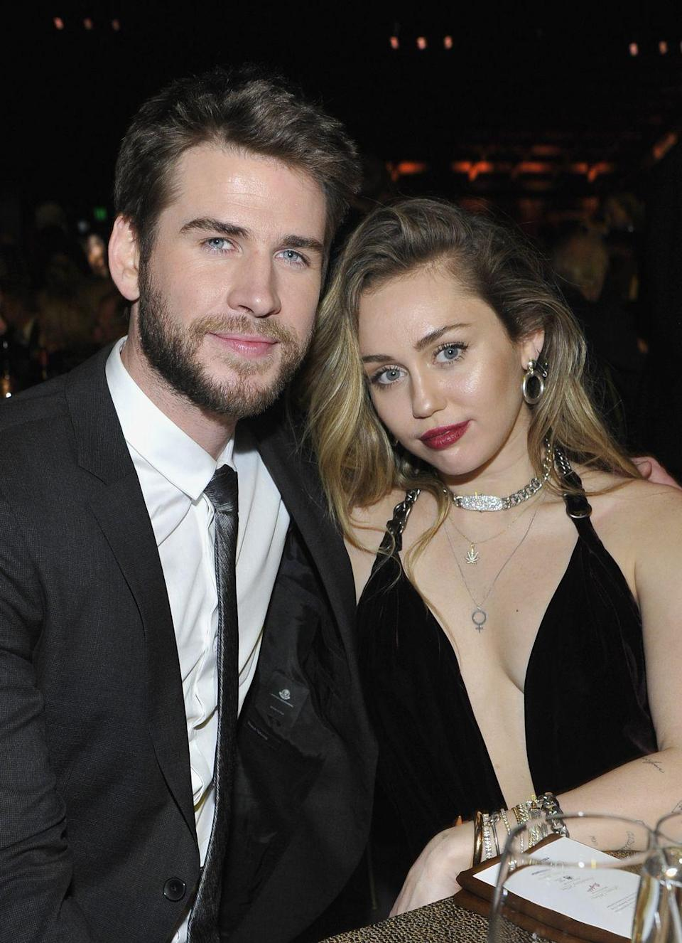 """<p>Miley Cyrus and Liam Hemsworth's <a href=""""https://www.womenshealthmag.com/relationships/g30404930/on-again-off-again-celebrity-relationships/?slide=4"""" rel=""""nofollow noopener"""" target=""""_blank"""" data-ylk=""""slk:on-again, off-again (and on-again, off-again)"""" class=""""link rapid-noclick-resp"""">on-again, off-again (and on-again, off-again)</a> romance all started while filming the Nicholas Sparks adaptation of The Last Song. They had a palpable connection that radiated on-screen. After several breakups, two engagements and a secret wedding, the pair <a href=""""https://people.com/music/miley-cyrus-liam-hemsworth-split/"""" rel=""""nofollow noopener"""" target=""""_blank"""" data-ylk=""""slk:split for good in 2019"""" class=""""link rapid-noclick-resp"""">split for good in 2019</a>.</p>"""